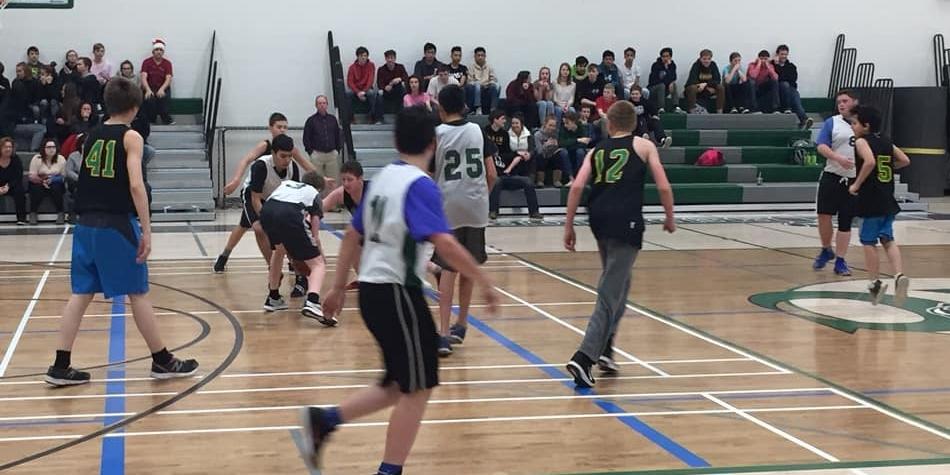 Jr Boys Basketball in Action