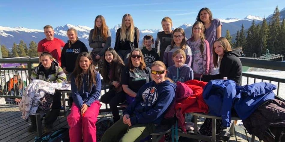 Jr High Jasper Ski Trip