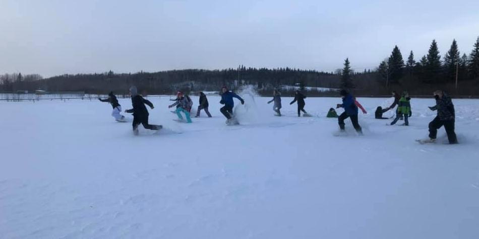 Snow Shoe Racing!!!