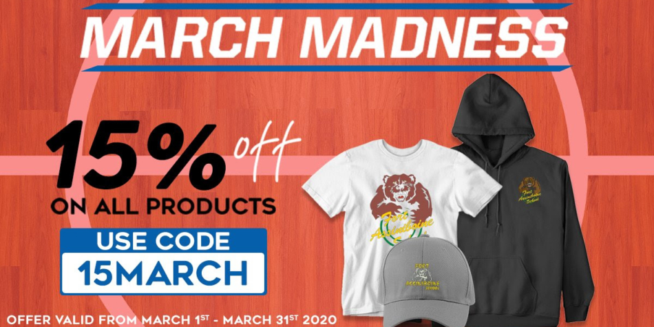March Madness 15% off