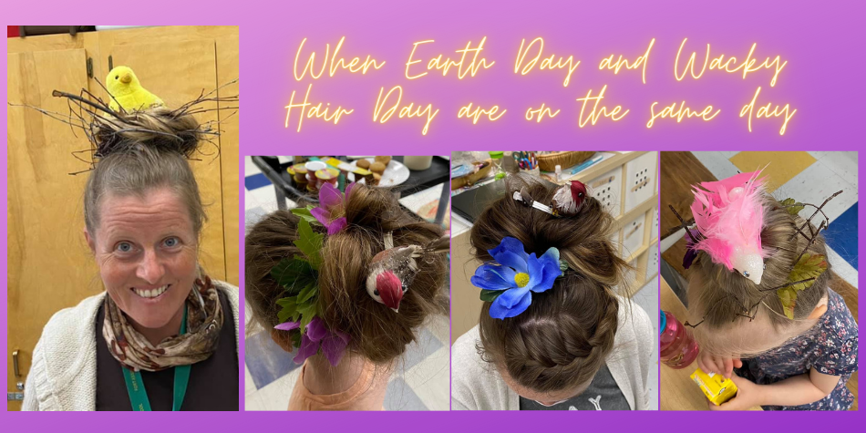 Earth and Wacky Hair Day